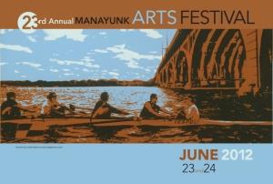 2012 Manayunk Arts Festival Poster - Artist: Charlie Barton - artbybarton.com