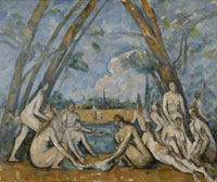 The Large Bathers, 1906, Paul Cézanne, French, Oil on canvas, From www.philamuseum.org