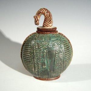 Stoneware Scent Bottle by Barbara Hanselman.