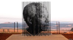 Mandela Sculpture by Marco Cianfanelli.  Photo from BBC - AFP/GETTY.