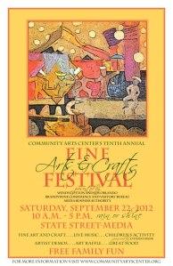 Community Arts Center's Tenth Annual Fine Arts and Crafts Festival
