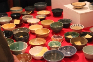 Handmade bowls for the Empty Bowls Luncheon.